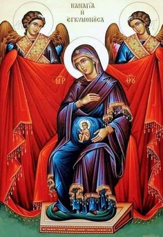 Many beautiful pictures of Our Lady for May Religious Images, Religious Icons, Religious Art, Byzantine Art, Byzantine Icons, Christian Symbols, Christian Art, Church Icon, Blessed Mother Mary