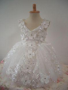 Flower Girl Dress Little Baby Girl Baptism Dress Lace Infant ...