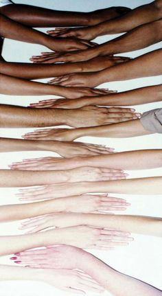 I absolutely love this picture. It shows that we are just one race of people from the lightess of complexions to the darkest.