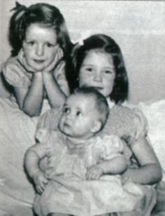 1961 - Baby Diana Spencer with sisters Jane and Sarah. Though not a Windsor by birth, Diana grew up in the same aristocratic circles as the royal family and enjoyed occasional playdates with her future husband Charles's younger brothers, Prince Andrew and Prince Edward.