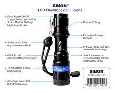 Methodical 5 Modes Led Flashlight Dimming Aluminum 40x Led Flashlight Water Resistant Adjustable Focus Outdoor Ultra Bright Lamp Torch Led Flashlights Lights & Lighting