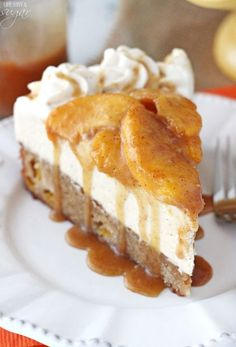 Peach Caramel Blondie Cheesecake. Try the salted Carmel cheese cake..it is all so amazing!!!