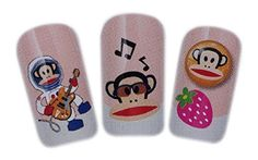 Monkey Business Design Nail Art Wrap Water Transfer Decals for NaturalFalse Nails ** Want to know more, click on the image.