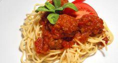 polpette in sugo di pomodoro, avagy Szicíliai paradicsomos húsgombóc spagettivel Bolognese, Italian Recipes, Spaghetti, Baking, Ethnic Recipes, Food, Essen, Bakken, Meals