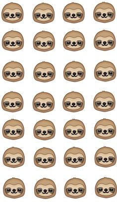 What is difference Hint none Cute Baby Sloths, Cute Sloth, Cute Baby Animals, Sloth Tattoo, Lamas, Emoji Patterns, Spirit Animal, Easy Drawings, Animal Drawings
