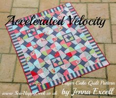accelerated velocity quilt pattern 1 - uses Lazy Girl Ruler or templates provided in tutorial.