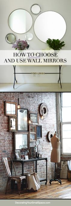 Espelho (ideia - sala de jantar) Tips on How to Choose and Use Wall Mirrors!