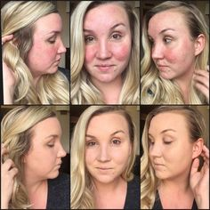 Before and After with Younique Liquid Foundation . Need help color matching just ask!   Www.youniquesarahv.com