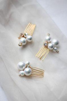 Bridesmaid Bridal Jewelry Set Pearl Hair Pins Bridal Mini Pins Cotton Pearl Mini Combs Small Hair Pins with Cotton Pearls ONE PIN - x Pearls aesthetic x - brautjungfern kleider Hair Jewelry, Jewelry Gifts, Fine Jewelry, Fashion Jewelry, Pearl Jewelry Set, Bridal Jewelry Sets, Wedding Jewelry, Pearl Hair Pins, Wedding Hair Pins