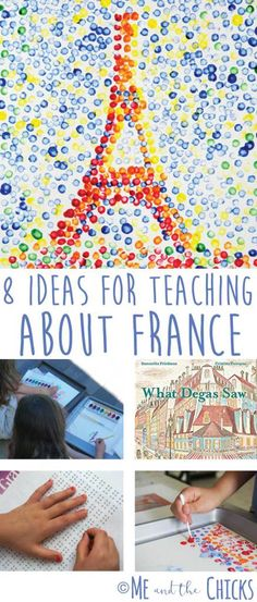 Ideas For Teaching About France France Geography - Ideas For Teaching About France Me And The Chicks Learn Fun Hand On Learning Ideas For Your Homeschool Geography Class Including Crafts Books Cooking And More For More Geography Ideas Visit How To Speak French, Learn French, Ways Of Learning, Kids Learning, Learning French For Kids, Hands On Learning, Learning Games, Teaching Kids, France For Kids