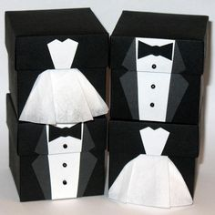 Small Bride and Groom Favor Boxes,