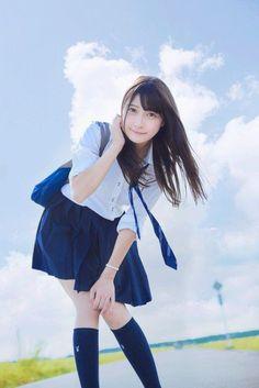School Girl Japan, School Uniform Girls, Girls Uniforms, Japan Girl, Beautiful Japanese Girl, Beautiful Asian Girls, Cute Asian Girls, Cute Girls, Botas Sexy
