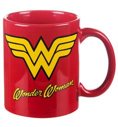 Power up those super powers with a healthy dose of caffeine! This awesome, official #DCComics #WonderWoman logo #mug is perfect with special ladies with special powers! xoxo #Superhero #Mugs #Gift #Gifts #Retro #Hero
