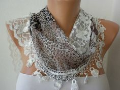 PRINT SCARF   -  BY FATWOMAN, $19.00