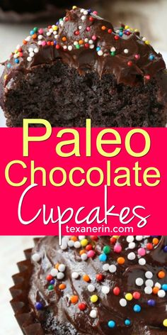 Paleo Chocolate Cupcakes (are super rich simple and most of all perfect for your gluten-free grain-free and dairy-free diet! Bake a batch of these gluten-free chocolate cupcakes today! Chocolate Paleo, Gluten Free Chocolate Cupcakes, Healthy Cupcakes, Chocolate Chip Brownies, Gluten Free Cupcakes, Chocolate Recipes, Healthy Cupcake Recipes, Healthy Food, Keto Cupcakes