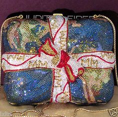 MINT-JUDITH-LEIBER-CRYSTAL-WORLD-MAP-GIFT-WRAPPED-MINAUDIERE-HANDBAG-LIKE-NW