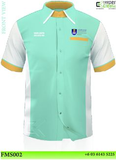 Corporate Shirt 010 3425 700 By: Baju Korporat Muslim Corporate Shirts, Business Shirts, Corporate Business, Polo Shirts With Pockets, Whatsapp Messenger, Dress Shirts For Women, Custom Made, Chef Jackets, Light Blue