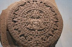 Aztec Art - Stone of the Sun. Not a calendar like many thinks. This piece is about 3 m in diameter.