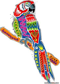 hand-painted Mexican animal vector