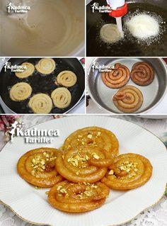Jalebi Tatlısı Tarifi Turkish Recipes, Indian Food Recipes, Cake Recipe Using Buttermilk, Sweet Recipes, Cake Recipes, Turkish Sweets, Middle Eastern Recipes, Food Facts, Desert Recipes