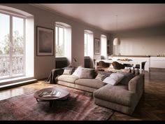 Livingroom  RNDR Studio | Ravalico Real Estate | Trieste | Italy www.rndrstudio.it http://ravalicorealestate.com/proposte/view/121