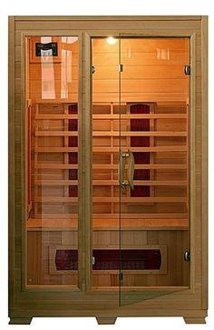 Kalla+-+Kalla,+sauna+infrarossi+per+due+persone,+caratteristiche+:+pannello+di+controllo,+5+irradiatori+infrarossi+in+ceramica,+temperatura+da+18+a+60°,+potenza+1600+w,+legno+Hemlock,+dimensioni+120+x+100+x+190+cm.