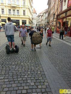 Prague, bag with man