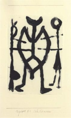 Paul Klee 'Schildman' (Sheild You [my own translation g.s.]) 1940 16.4 x 8.3""