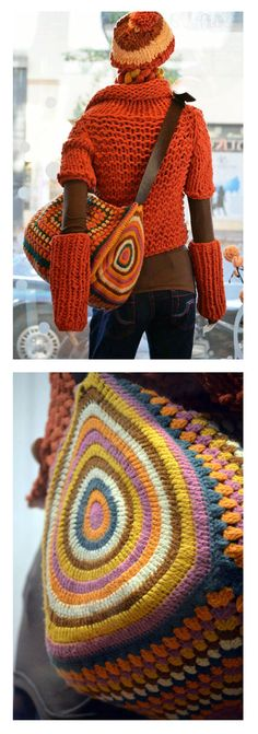 Crochet bag - idea - similar pattern: http://www.liveinternet.ru/users/tatmel/post287931121/