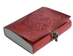 Amazon.com : Komal's Passion Embossed Leather Handmade Writing Leather Journal Diary Notebook with Clasp Lock and Handmade Paper : Office Products