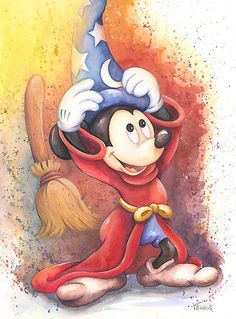 Michelle St. Laurent - Fantasia - Mickey Mouse - Perfect Fit - world-wide-art.com
