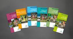 Charte graphique des topo-guides de randonnée du Calvados // Agence Attribut