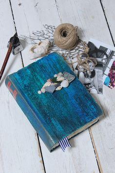 Wedding guest book for beach destination by LotusBluBookArt