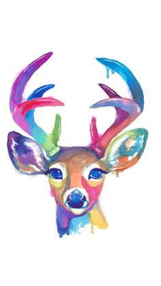 Gorgeous deer painting