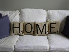 Scrabble Inspired Pillows