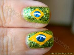 datyorkLOVES: Day 28- Inspired by a Flag Brazil Nails