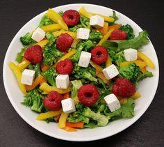 Klidfaster.dk: Grøn salat med hindbær og feta...