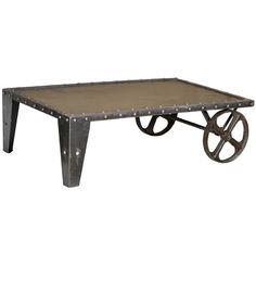 Iron Trolly Coffee Table