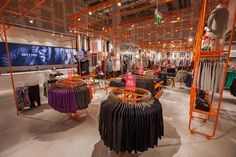Use of pop of colour _ONLY Flagship Store by Riis Retail, Dresden   Germany fashion