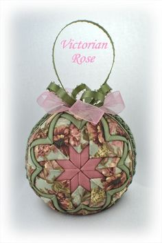 Victorian Rose Ornament Front View--kit