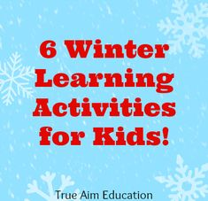 6 Winter Themed Learning Activities including penguin learning crafts, free printables and more!