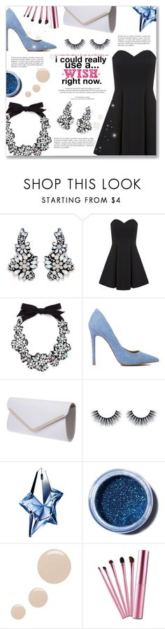 """I could really use a... WISH right now."" by dressedbyrose ❤ liked on Polyvore featuring J.Crew, Miss Selfridge, Louis Vuitton, Thierry Mugler, Lime Crime and Topshop"