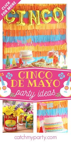 Don't miss this incredible Cinco de Mayo Fiesta! The cake is fantastic! See more party ideas and share yours at CatchMyParty.com Fiesta Cake, Fiesta Party, Party Drinks, Party Favors, Girl Birthday, Birthday Parties, Mexican Birthday, Party Activities, Party Cakes