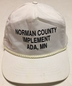 12a10bd59b6 Vtg Norman County Implement Hat Ada Minnesota Cap Agriculture Farming  Equipment  Otto  BaseballCap Agriculture