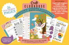 Easter Activity Pack: 26 pages of crafts, baking, coloring, and activities INCLUDING a complete party printable set!