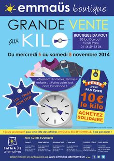 Great deals to do from 5th to 8th November : 10€ = 1 Kg