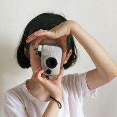 Un appareil photo par Single Crochet