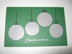 Joulukortti. Joulupallot hohtavasta tapetista. ( joulu kortti joulukortit joulukortteja )
