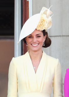 The Duchess of Cambridge during Trooping The Colour, the Queen's annual birthday parade, on June 2019 in London, England. - Trooping The Colour 2019 Kate Middleton Makeup, Kate Middleton Outfits, Kate Middleton Wedding, Kate Middleton Photos, Kate Middleton Style, Pippa Middleton, The Duchess, Duchess Of Cambridge, Prince William And Kate