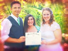 Wayne and Laura came all the way from California to tie the knot in the Wedding Meadow at Hoyt Arboretum